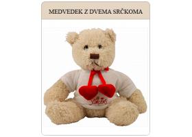 Medvedek z dvema srčkoma