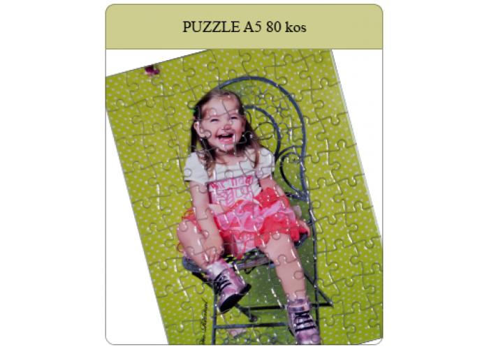 Puzzle velikosti A5 14,5x20cm iz 80 kosov